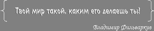 Vladimir S. Fil'varkiv | Владимир Фильваркив | Твой мир такой, каким его делаешь ты!